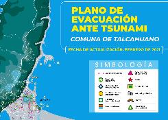 Plano de Evacuación Antes Tsunami actualizado a Febrero 2021