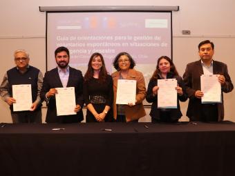 Talcahuano firma compromiso para el fortalecimiento de los Voluntarios Espontáneos en el lanzamiento de la Guía