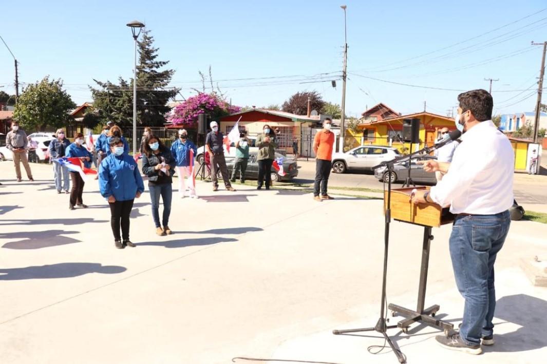 Talcahuano convierte basural en plaza que conmemora firma de la Independencia