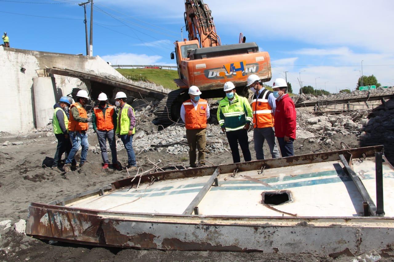 Inicia armado de puente mecano en Perales: Estará habilitado la próxima semana