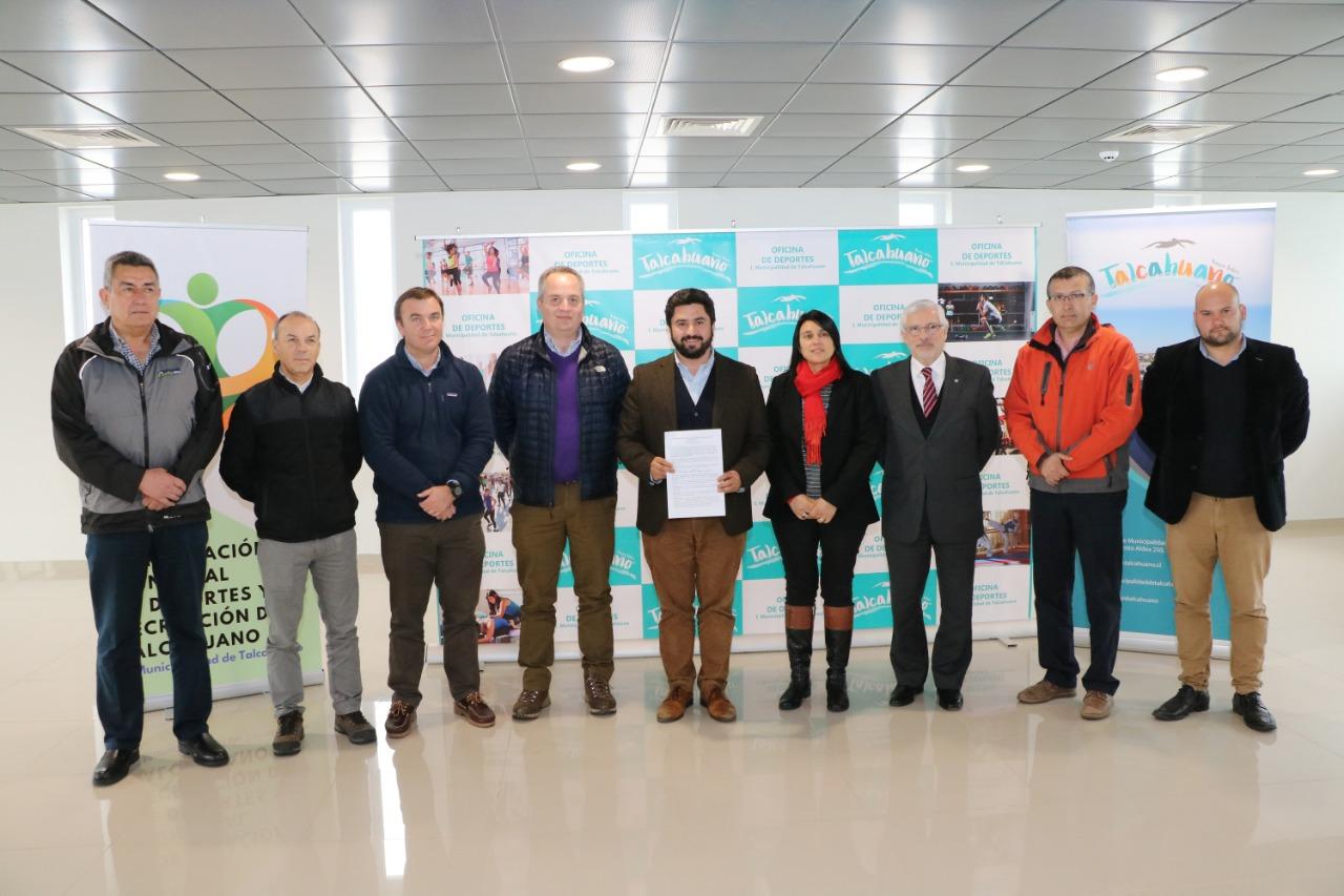 Municipio y privados firmaron estatutos de la Corporación Municipal de Deportes y Recreación