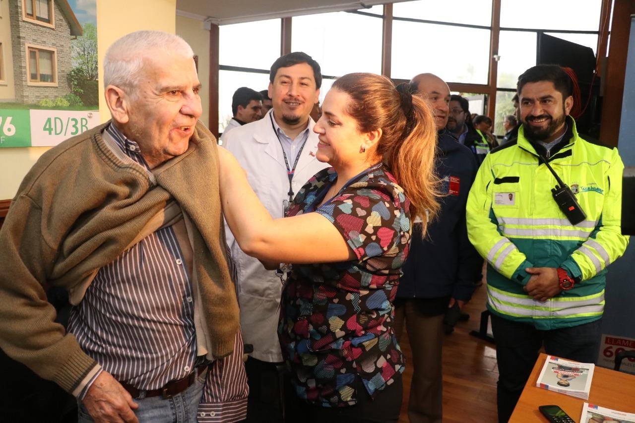 1000 vacunas contra la influenza dispuestas para vecinos de Talcahuano afectados por el tornado