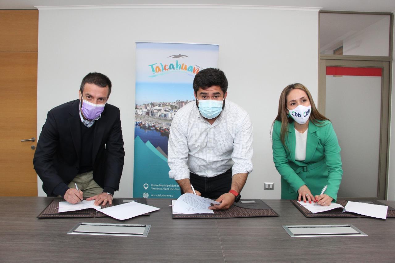 Municipalidad de Talcahuano, Huella Local y Cementos Bio Bio firman inédito convenio de colaboración público-privada para impulsar el desarrollo de la comuna